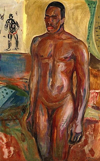 Edvard Munch: Africano nudo in piedi