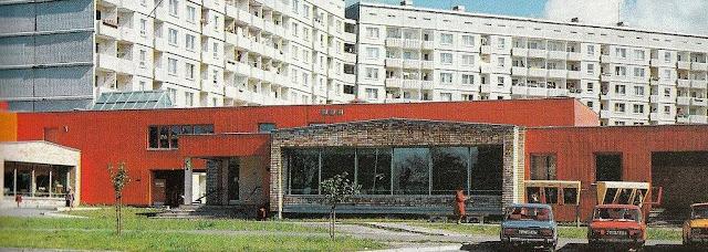 "1980-е годы. Рига. Плявниеки. ""Морковка"" тогда. Перекресток улиц Илукстес и Деглава"