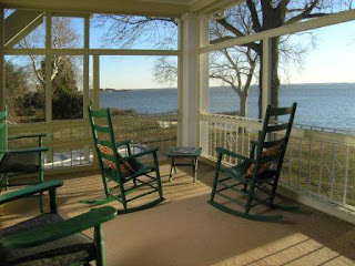 Most Rooms at Sandaway have private waterfront porches.
