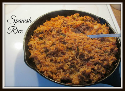 Spanish Rice in an Iron Skillet
