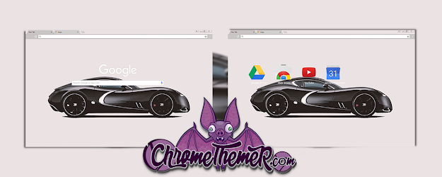 Black Bugatti Google Theme  | Chrome Web Store