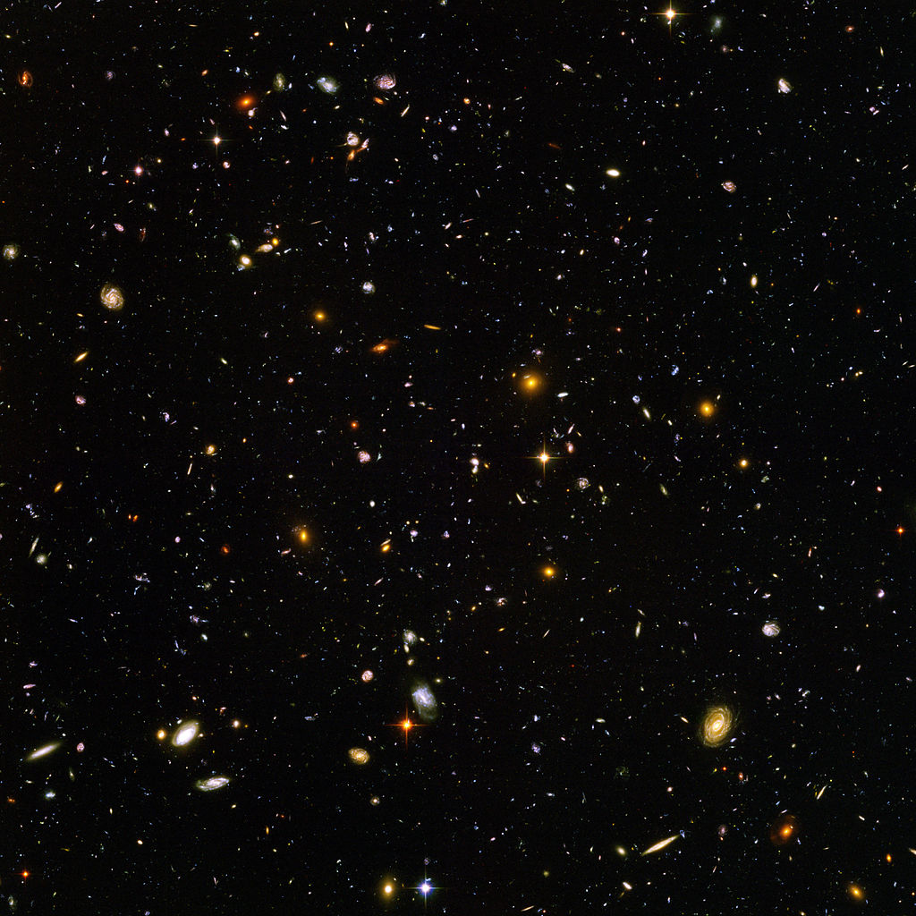 Hubble Ultra Deep Field 10000 galaxies