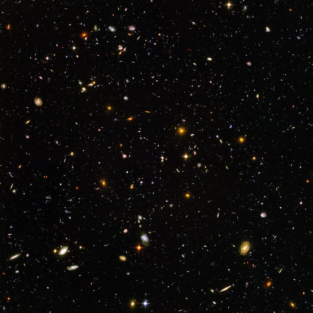 Hubble Ultra Deep Field 10000 galaxies