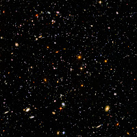 The Hubble Ultra Deep Field shows over 10,000 galaxies in a mere 0.000024% of the sky
