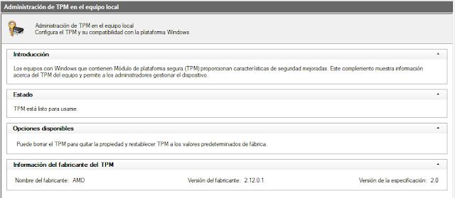 Windows 11 - TPM 2.0 msc habilitado windows 10