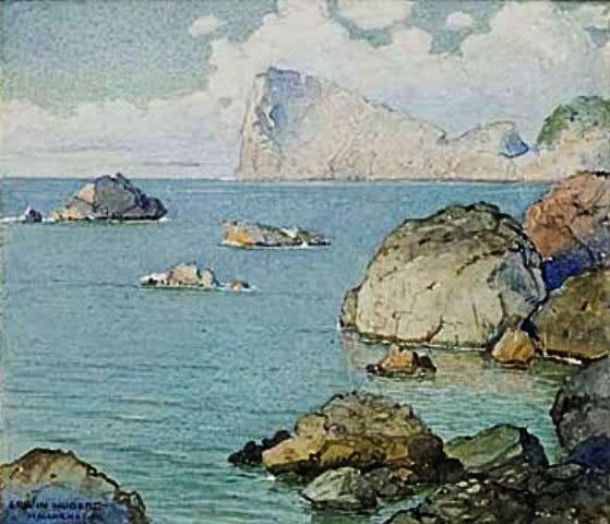 Joan Antoni Fuster i Valiente, Acantilados de Palma, Mallorca en Pintura, Mallorca pintada, Paisajes de Mallorca