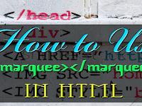 Cara Membuat Teks Berjalan/Running Text Dengan Html: Marquee
