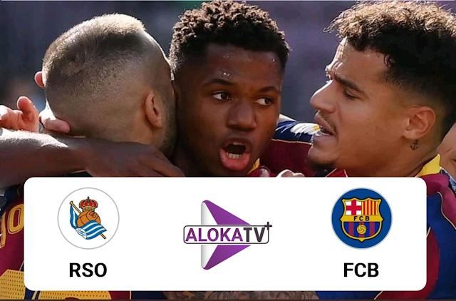 برشلونة ضد سوسيداد بث مباشر