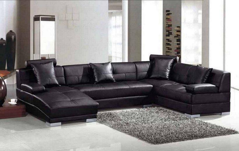 sofa ruang tamu hitam 4