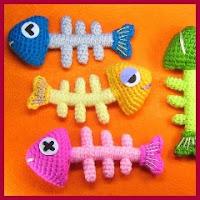 Raspas de pescado amigurumis