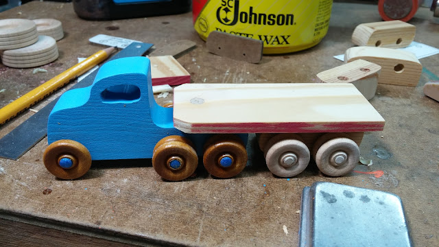 Dry Fitting The Trailer To be Sure Everything  Fits Before Painting Toy