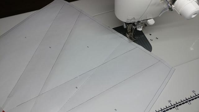 Letter V quilt block