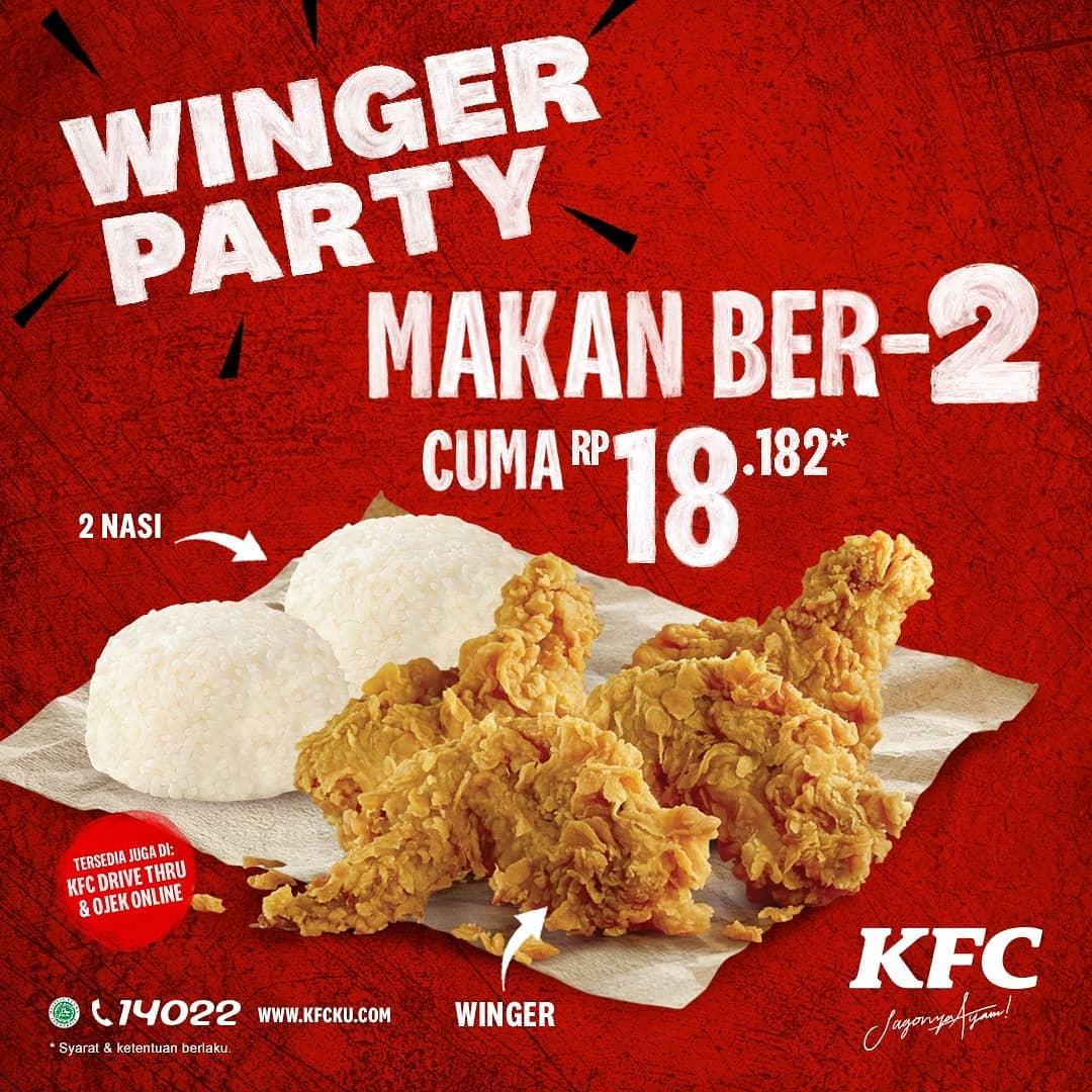 KFC Winger Party Makan Berdua Harga Promo Cuma Rp 18.182