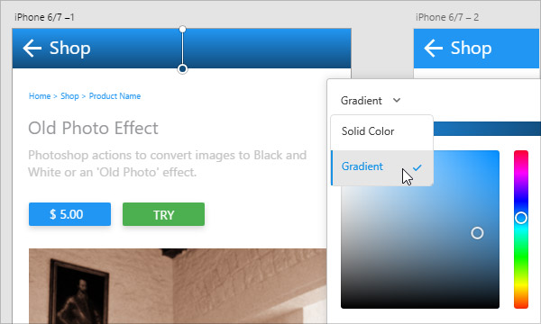 How to Use Gradients in Experience Design CC (Beta)