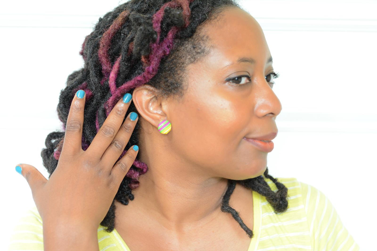 ankara fabric earrings diy