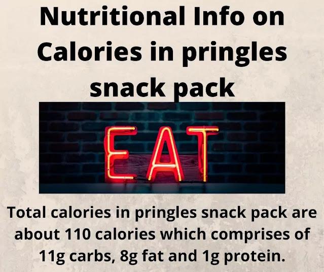Calories in pringles snack pack