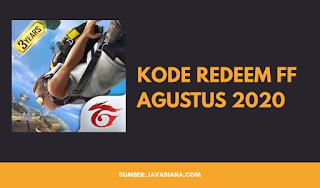 Kode Redeem FF Free Fire Agustus 2020