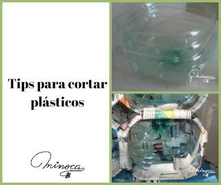 Tips de manualidades. Ideas para manualidades. Manualidades con plástico. Cuidados al cortar plásticos
