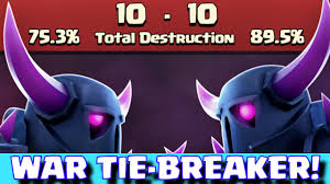 coc, clash of clans, tie breaker, supercell, update