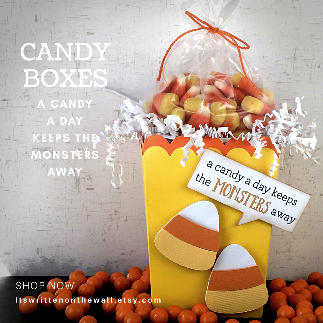 Halloween Candy Corn Treat Box