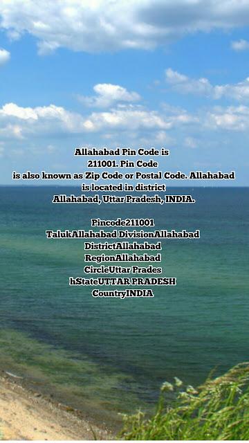 Allahabad ka Pin Code Number 211001 Uttar  Pradesh
