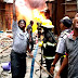 BREAKING: Fire Guts Buildings At Balogun Market