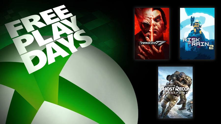 ghost recon breakpoint risk of rain 2 tekken 7 xbox live gold free play days event