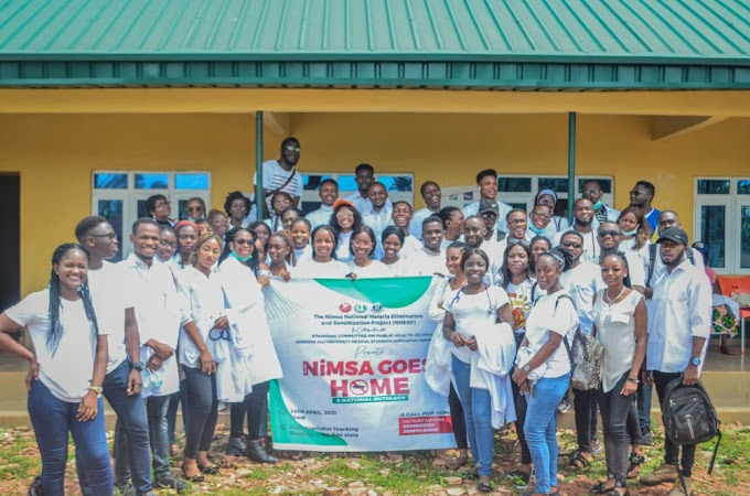 Malaria Prevention Community Outreach by the Ambrose Alli University Medical Student Association.