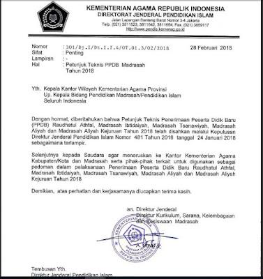 Juknis PPDB Madrasah Tahun Ajaran 2018/2019 SEO SUNDA