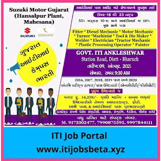ITI Campus Interview 2021 In Gujarat