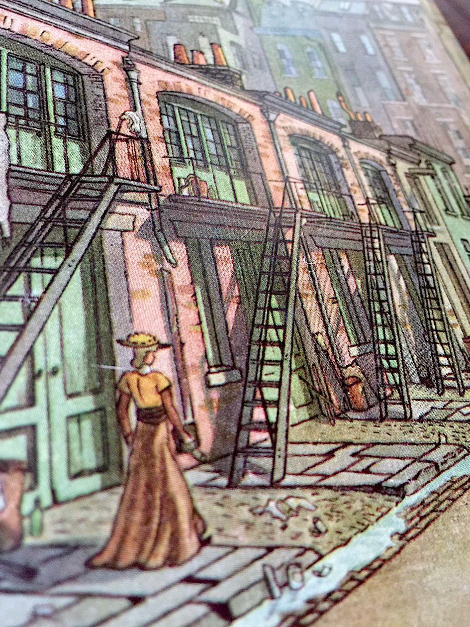 a John O'Hara Cosgrave II illustration of old London