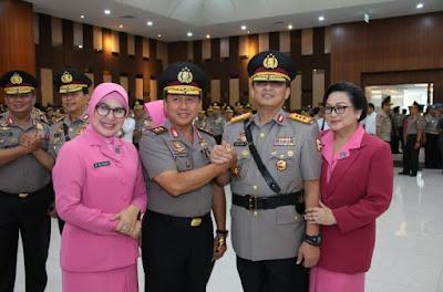 Selain Kapolda, Ketua Bhayangkari Jambi Turut Hadiri Kegiatan Sertijab Wakapolri Beserta 3 Kapolda