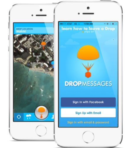 drop messages mobile app