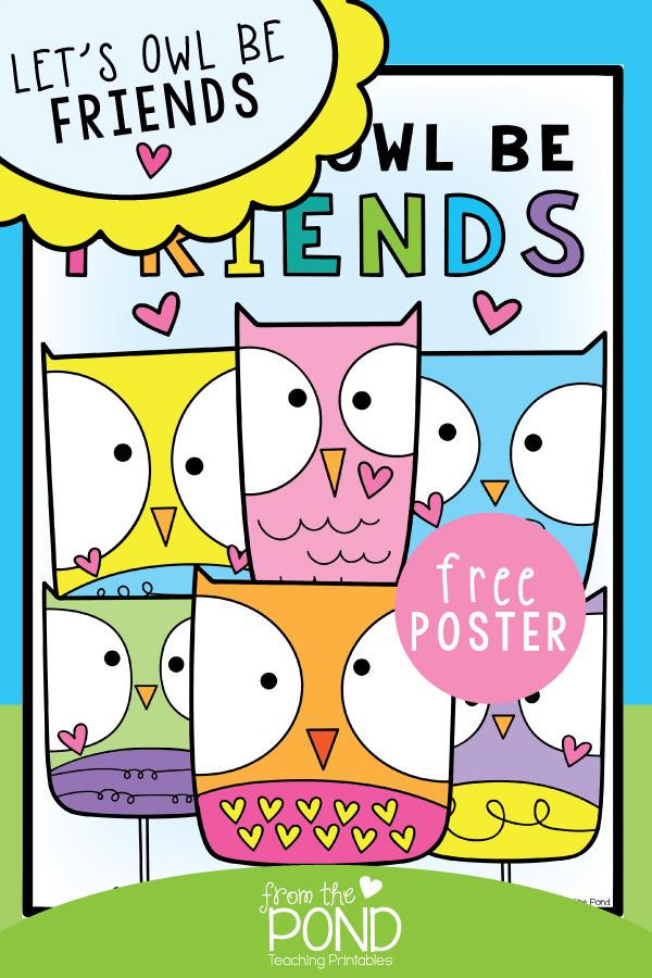 lets owl be friends free worksheet
