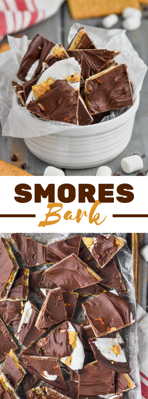 S'MORES CHOCOLATE BARK #simplerecipes #desserts