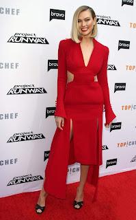 Karlie Kloss in Red Dress
