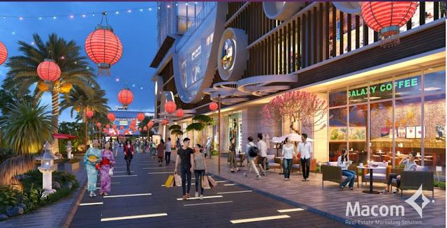 Khuôn viên, đường nội bộ được đầu tư kỹ càng tạo cảnh quan đẹp mắt tại Hinode city