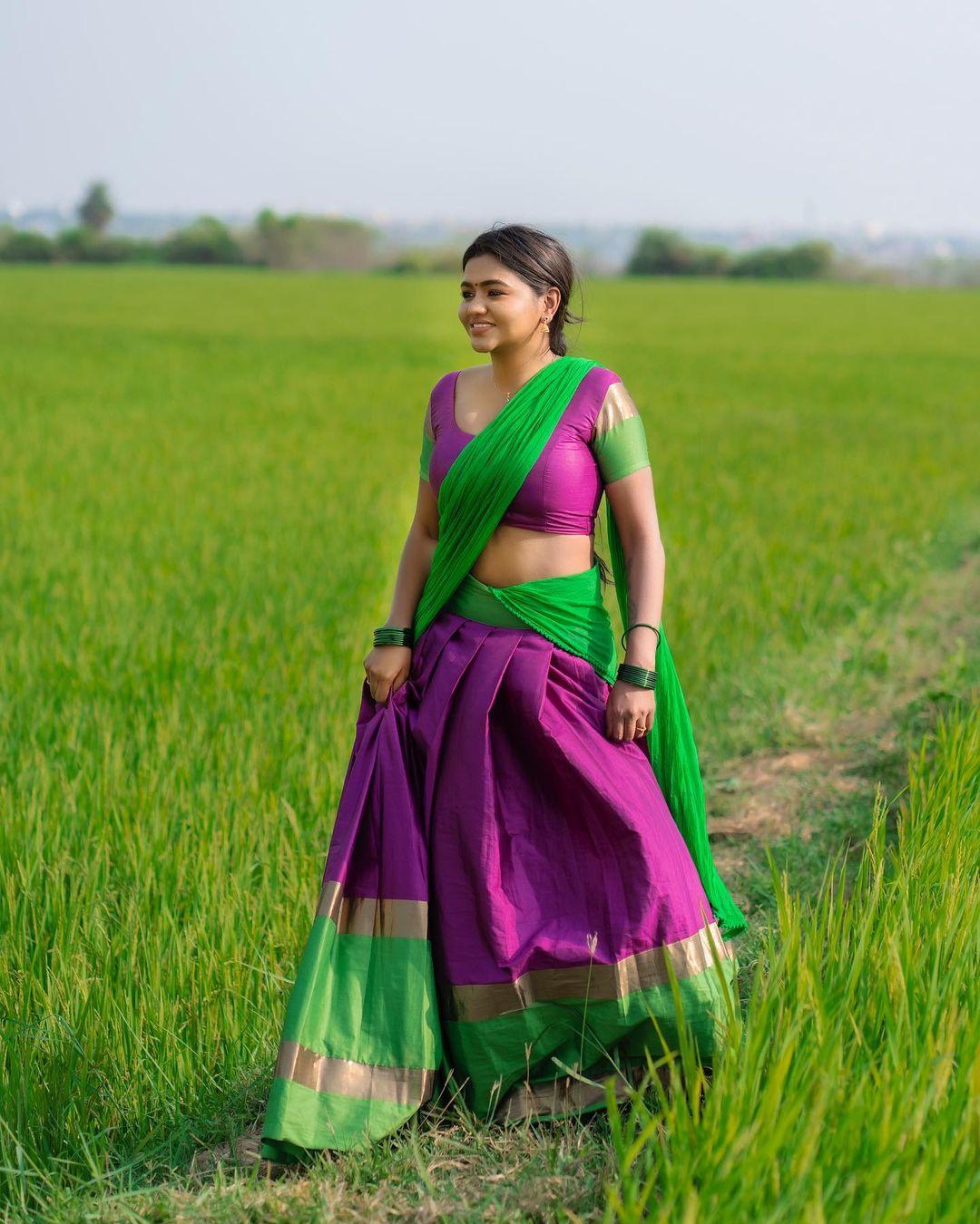 Actress Shalu Shamu Latest Hot Photos in Half Saree