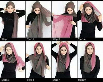 Tutorial Style Hijab Pashmina Bolak Balik Simpel dan Trendy