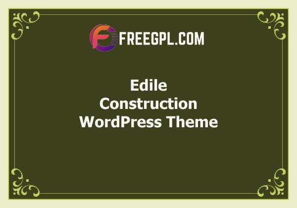 Edile – Construction WordPress Theme Free Download