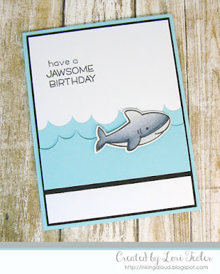 Have a Jawsome Birthday card-designed by Lori Tecler/Inking Aloud-stamps and dies from Lawn Fawn