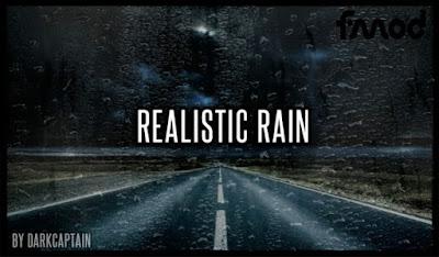 Mod Hujan Realistis v3.8.1 ETS2 1.40