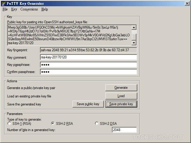 [教學] 使用 PuTTYgen 產生 SSH 連線 RSA、DSA 公鑰與私鑰_401