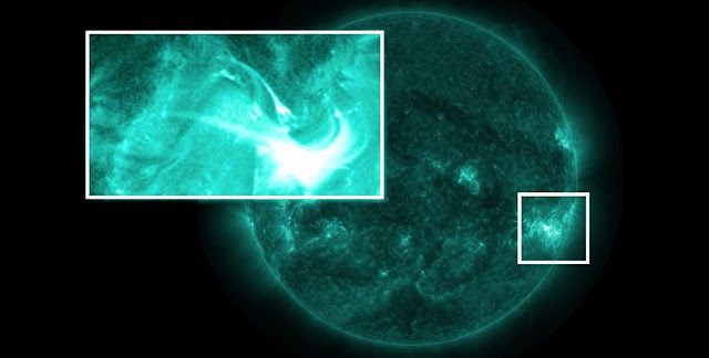 On September 30, 2014, multiple NASA observatories watched what appeared to be the beginnings of a solar eruption. A filament — a serpentine structure consisting of dense solar material and often associated with solar eruptions — rose from the surface, gaining energy and speed as it soared. But instead of erupting from the Sun, the filament collapsed, shredded to pieces by invisible magnetic forces. Credits: NASA's Goddard Space Flight Center/Genna Duberstein, producer