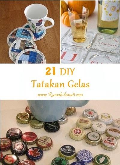 Membuat Tatakan Gelas Sendiri (21 ide DIY)