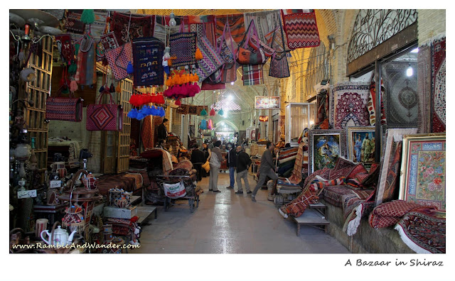 Iran: Top Things to Do and See in Shiraz - Vakil Bazaar - Ramble and Wander