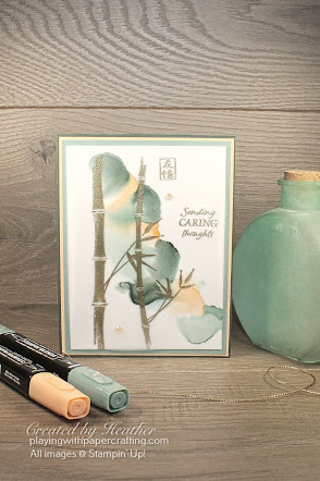 embossed  bamboo beauty and blended alcohol technique 1