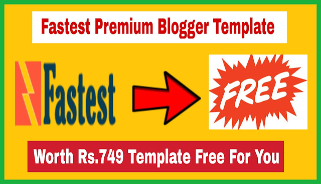 Fastest Premium Blogger Template