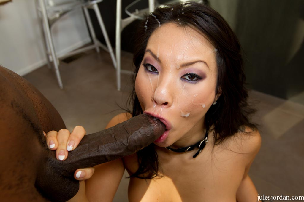 Asian bitch is sucking on a big fat dick real good 9