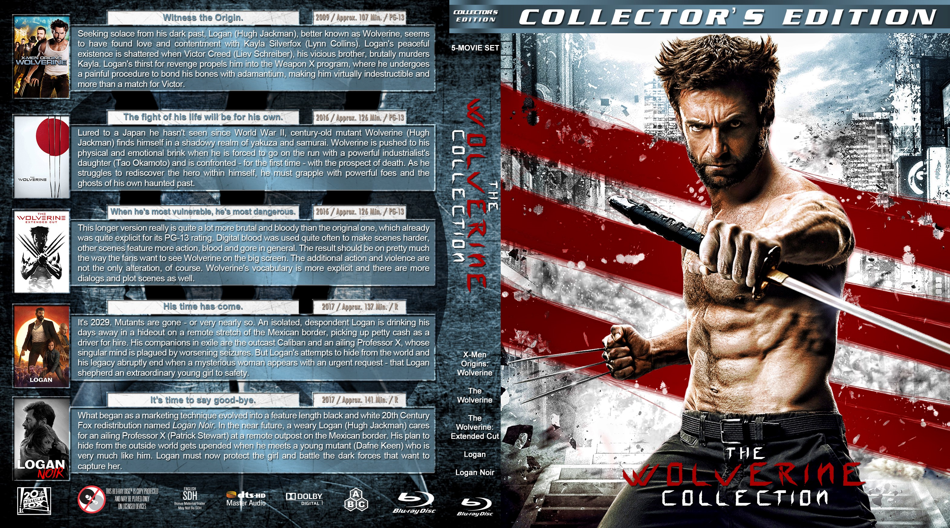 The Wolverine Collection Bluray Cover Cover Addict DVD